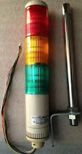 Patlite 24VAC/DC Red/Amber/Green Light Tower Stack SE-D With L Braket #1551A4