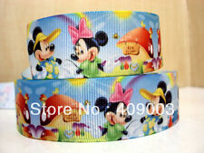 "Mickey and Minnie Mouse Ribbon 1"" Wide NEW UK SELLER"