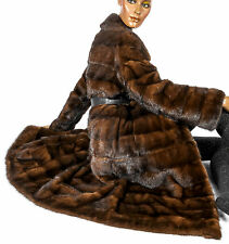 Nerzmantel Nerz Mantel Pelz Querstreifen striped fitted mink fur coat Pelzmantel
