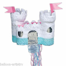 Princess White Fairytale Castle PULL Pinata Party Game