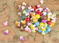 50PCS Mixed Colours Mushroom W/ Iron Wire for Decoration