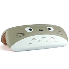 Fashion Cute Cartoon Glasses Case Cat Face Print Faux Leather Eyewear Cases