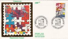 Enveloppe 1er Jour PORT-SUR-SAÔNE 13/10/1990 création des départements français