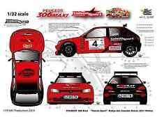 [FFSMC Productions] Decals 1/32 306 Maxi Vaison Rallye des Gueules Noires 2011