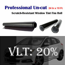 "Uncut Roll Window Tint Film 20% VLT 24"" In x 10' Ft Feet Car Home Office Glass"