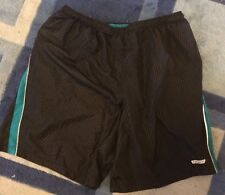 "HIND black running shorts Men's XXL 9""inseam  Stripes Reflective"