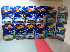 2003 Hot Wheels TH Treasure Hunt Set - Complete 1-12 - All Mint On Cards -