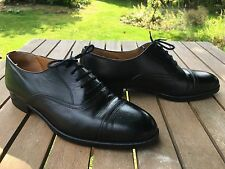 BALLY PRESTIGE MENS SIZE 8.5 SUPER QUALITY 100% LEATHER BLACK OXFORD MADE ITALY