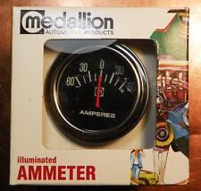 NOS 60 Amp Illuminated Ammeter 6V 12V Medallion 62-720 Hot Rod Rat Rod SCTA NHRA