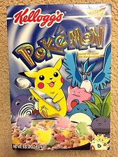 2000 Kellogg Pokemon Cereal Box - Limited Edition - RARE and VINTAGE!!