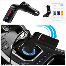 Autos G7 Bluetooth 5V/2A FM Transmitter USB Charger MP3 WAV Player Handsfree Kit