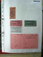 M1710 Kippax. 4 K&DMC Bus/Tram ticket(s). 4, not 5. 1 Photocopy of back