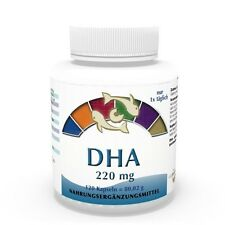 Vita World DHA 220mg Marines Omega 3 concentrato 120 capsule EPA MADE IN GERMANY