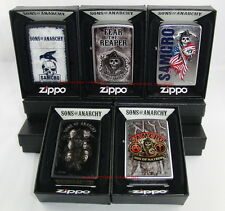 Zippo - 5 x SOA Sons of Anarchy-real Sons, SAMCRO, fear the reaper, Raven... nuevo
