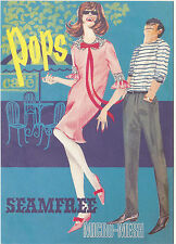 ROBERT  OPIE  ADVERTISING  POSTCARD  -  POPS  SEAMFREE  MICRO-MESH  TIGHTS