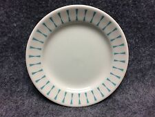 Vintage Homer Laughlin China Restaurant Ware Side Dish Plate Turqoise Triangles