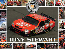 Tony Stewart 10 YEARS HOME DEPOT (1999-2008) NASCAR Classic Poster