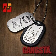 GANGSTA Nicolas Brown Military Card Cosplay Necklace with Chain A/O Dog Tag