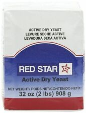 2 Pounds Red Star Bakers ~ACTIVE DRY YEAST~ Vacuum Pack Bread  (32oz) KOSHER