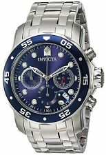 Invicta 0070 Pro Diver Silver Blue Dial Stainless Steel Chrono Watch 48MM NEW
