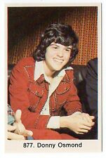 1970s Swedish Pop Star Card #877 US Heartthrob Teen Idol Singer Donny Osmond