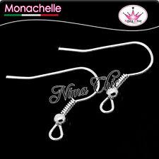 100 MONACHELLE ad amo anallergiche colore argento per orecchini,minuteria bijoux