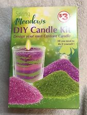 Candle Making Kit - Create Own Spring Meadow -3 Pks Wax Beads ,Wick ,Votive DIY