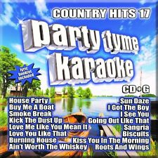 PARTY TYME KARAOKE CD - COUNTRY HITS 17 (2015) - NEW UNOPENED