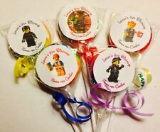 Lego Movie Swirl/Twirl Lollipop Candy/Party Favor Customized 12 Count