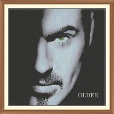 George michael (older) CROSS STITCH CHART 12.0 x 12.0 Inches