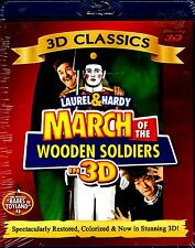 NEW BLU-RAY 3D //  LAUREL  & HARDY // MARCH OF THE WOODEN SOLDIERS //RESTORED