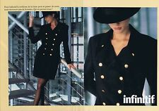 PUBLICITE ADVERTISING 025 1992 INFINITIF vêtement en Laine (2 pages)