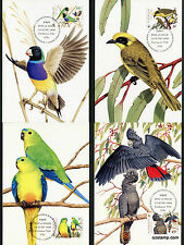 1998 Endangered Species Birds Maxi Cards Postcard Maxicards Stamps