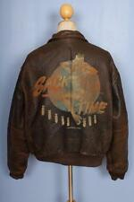 "VINTAGE AVIREX A-2 ""sacco di tempo"" USAAF VOLO leather jacket XL"