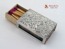 Kirk Repousse Match Safe Match Cover Sterling Silver