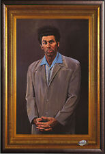 Seinfeld The Kramer Painting TV Poster in Premium Rust Wood Frame 24x36