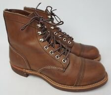Red Wing Iron Ranger Leather Boots Model #8111 Amber Harness Brown Size 8 D