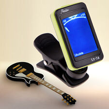 LCD Digital Chromatic Electronic Guitar Tuner Bass Violin Ukulele Black Green