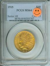 1915 1915-P $10 Indian Eagle Pcgs Ms64 Better Date Stunning Premiun Quality P.Q.