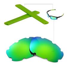 New WL Polarized Emeraldine Vented Lenses And Rubber Kit For Oakley Split Jacket