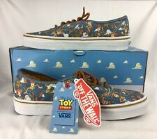 NIB Authentic Disney Toy Story Vans Woody Blue Denim Tennis Shoes Women's 8.5
