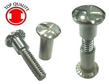 "One Way Sex Bolt Chromate #10-24, Nut 5/8"" & Screw 1-3/16"" - 10sets"