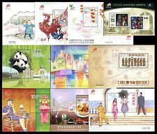 China Macau Macao 2010 10 Souvenir Sheets