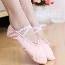 Adult Kids Ballet Dance Shoes Canvas Yoga Slippers Pointe Dance Shoes One Pair