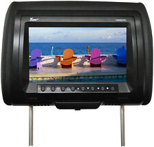 "Tview T939DVPLBK 9"" Headrest Monitor With Dvd Player Sold In Pairs Black"