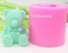 silicone mold DIY Teddy Bear,Fondant Cake Decorating Tools,Silicone Soap mold