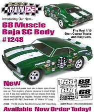 "Parma 1/10th Scale '68 Muscle Short Course Baja .040"" Clear Body PAR1248"
