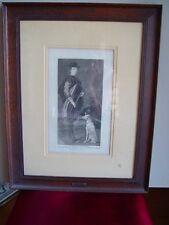 Grabado de Goya. Un Infante de España