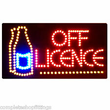 BRAND NEW SHOP FLASHING LED SIGN OFF LICENCE WINDOW SIGN BOARD