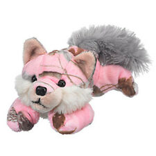 New Pink Wolf Plush Camo Realtree APC Patterned Stuffed Toy Small Gray Wild Dog